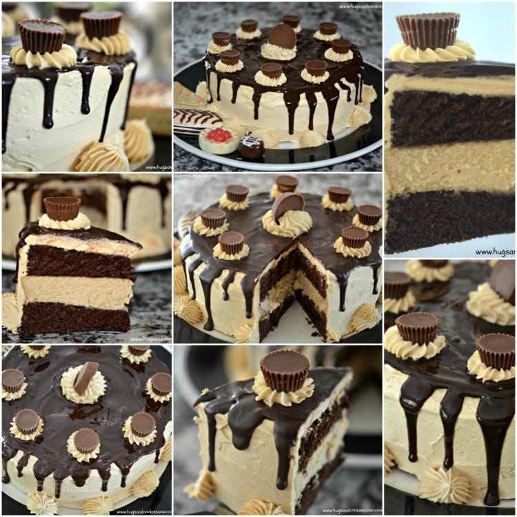 peanut butter cheesecake chocolate cake