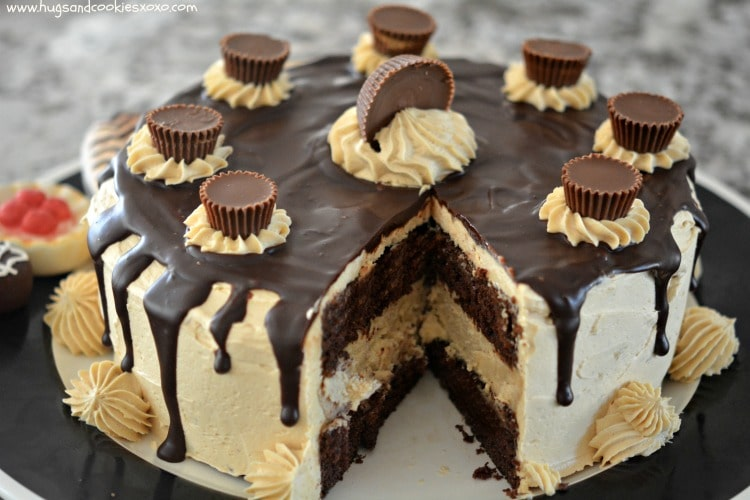 peanut butter reeses layer cake