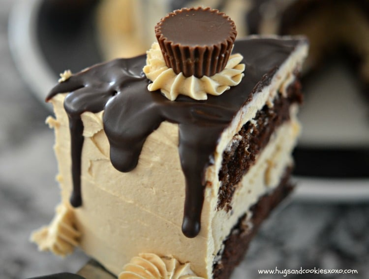 peanut butter reeses slice ganche