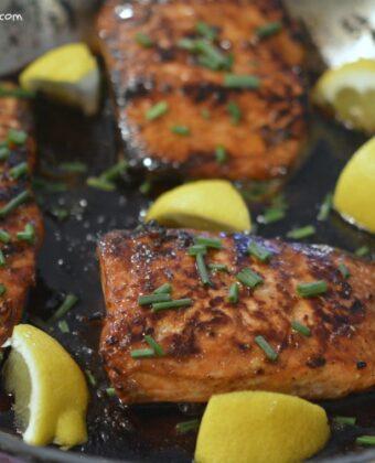 salmon honey butter sauce