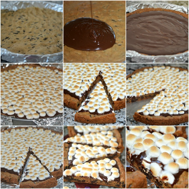 smores cookie pizza deluxe