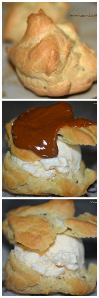 profiteroles-with-ice-cream-and-hot-fudge