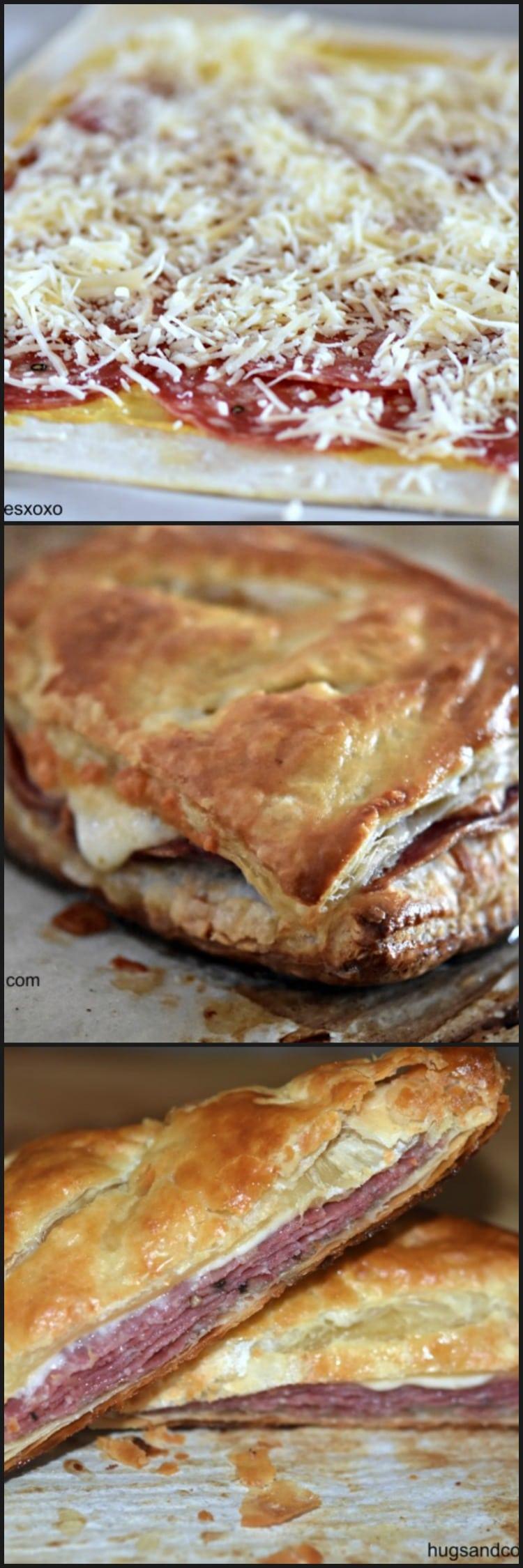 Sopressata and Cheese Puff Pastry