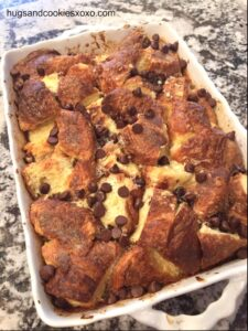 Chocolate Chip Cheesecake Croissant French Toast Casserole