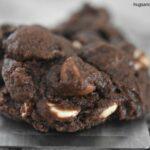 Triple Chocolate Fudgy Cookies