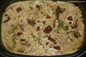 Crockpot Chicken and Bacon Gravy