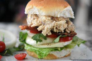 Chicken BLT Sandwiches with Bacon Gravy