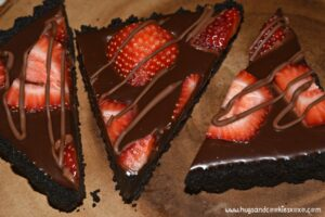 No-Bake Strawberry Ganache Tart