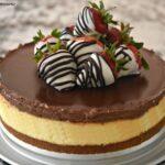 Ganache Cheesecake with Strawberries