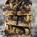 Oatmeal Peanut Butter Fudge Bars
