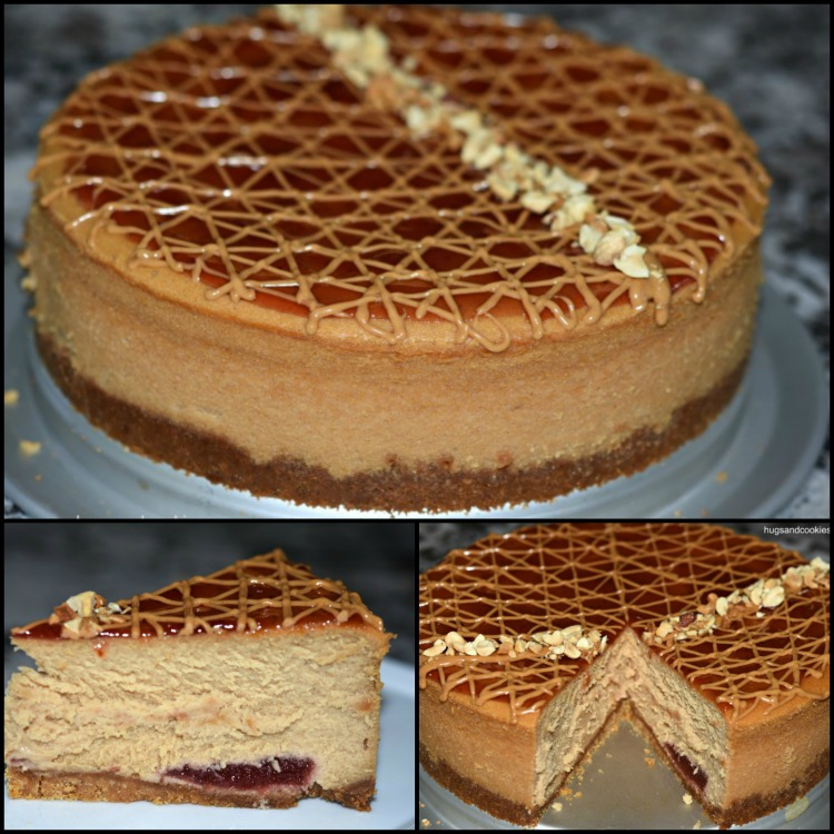 Peanut Butter and Jelly Cheesecake
