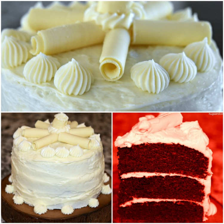 Red Velvet Triple Layer Cake With White Chocolate Cream Cheese Frosting