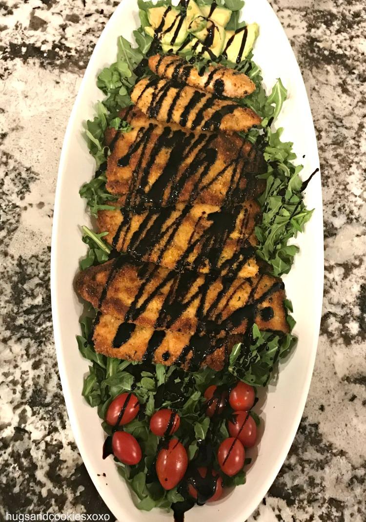 Balsamic Chicken Arugula Salad