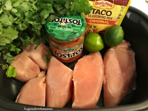 Crockpot Taco Salsa Chicken
