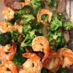 Low Carb Shrimp Scampi with Sausage & Broccoli