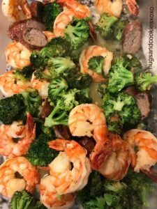 Low Carb Shrimp Scampi with Sausage & Broccoli