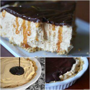 Frozen Peanut Butter Pie with Ganache