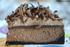 Blackout Swirly Cheesecake