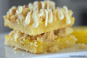 White Chocolate Lemon Streusel Bars