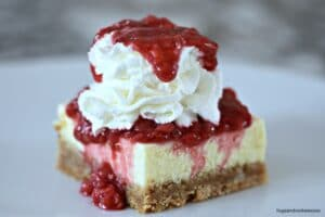 Vanilla Raspberry Cheesecake Bars