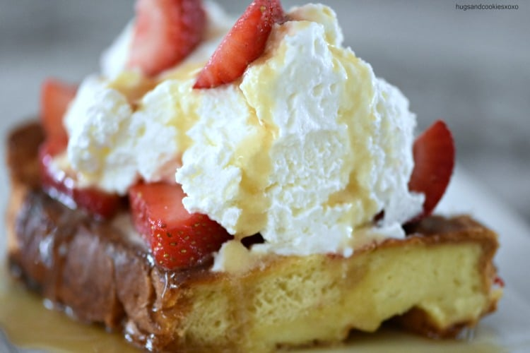 Strawberries and Cream Overnight Challah French Toast