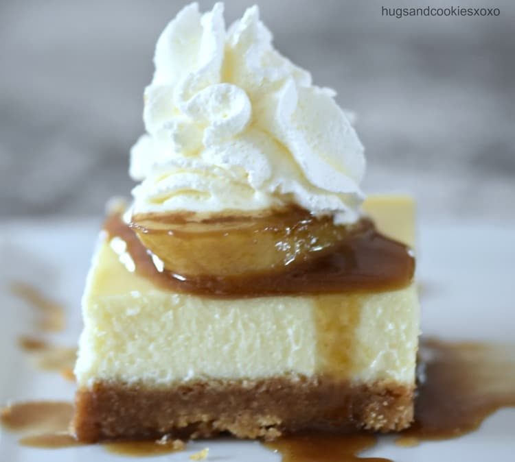 Bananas Foster Cheesecake Squares