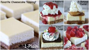 Favorite Cheesecake Toppings