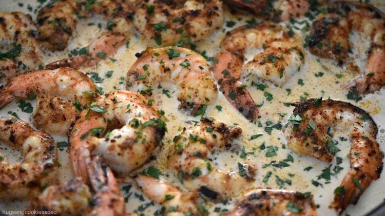 Chipotle Shrimp in Parmesan Cream Sauce