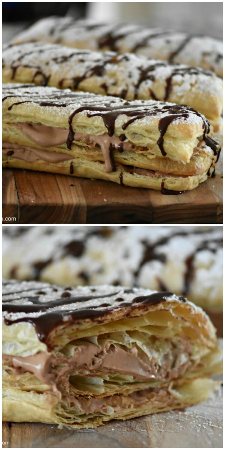 Chocolate Mousse Napoleons