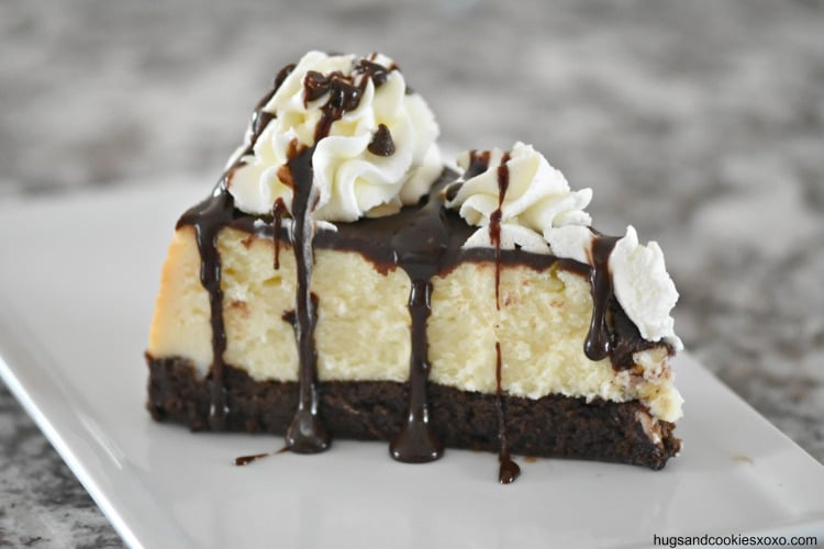 Flourless Hot Fudge Brownie Cheesecake