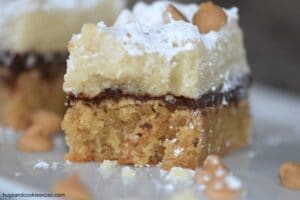 Peanut Butter Brownie Crumb Cake