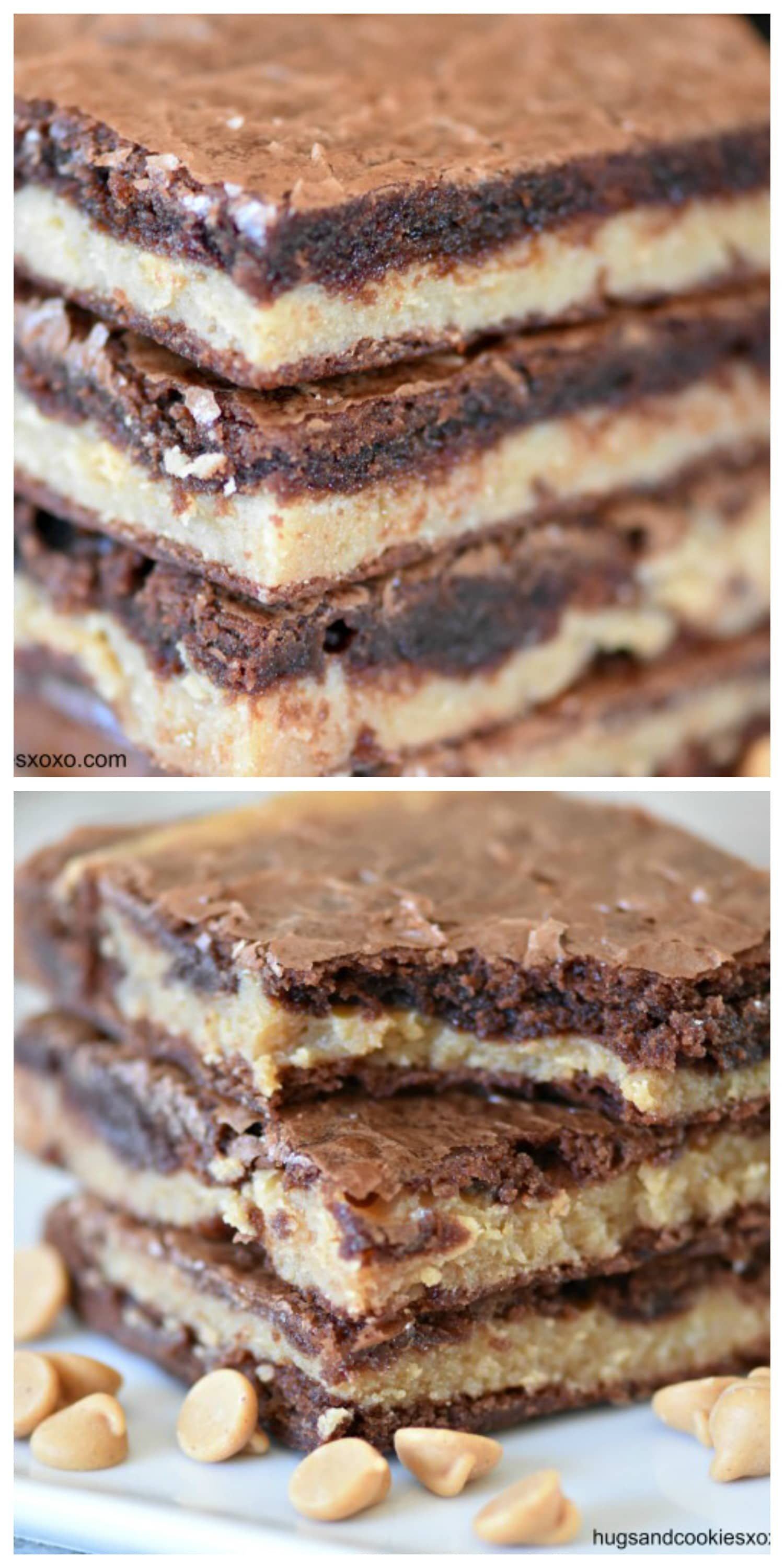 Peanut Butter Stuffed Brownies