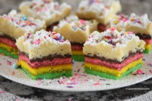 Rainbow Cookie Crumb Cake