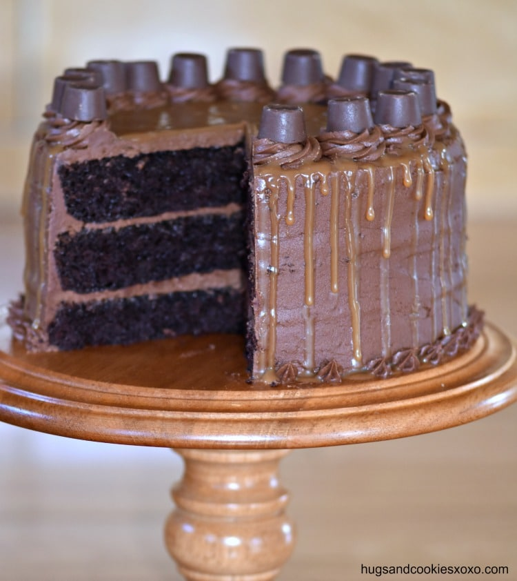 Rolo Caramel Chocolate Cake