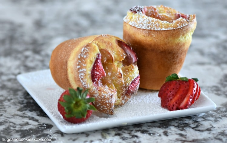 Strawberry Popovers