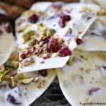 White Chocolate Pistachio Cranberry Bark