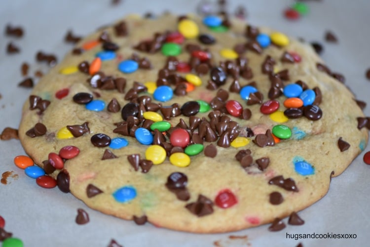 Jumbo Peanut Butter Candy Cookies