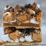 No-Bake Butterfinger Caramel Bars