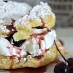 Amarena Cherry Cream Puffs