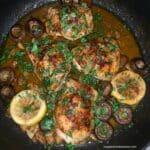 Garlic Butter Chicken Thighs With Cremini Mushrooms