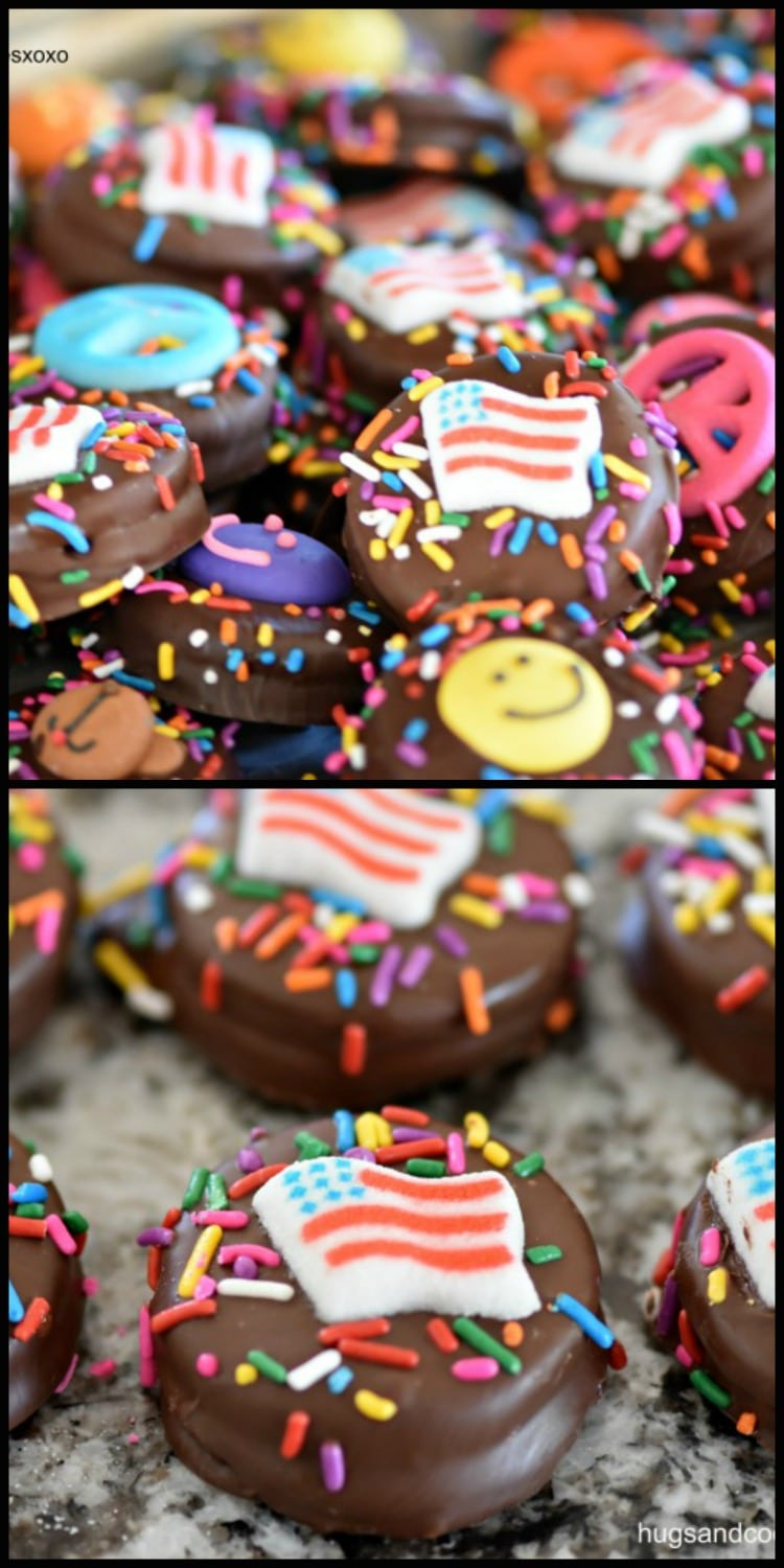 July 4th Chocolate Dipped Oreos