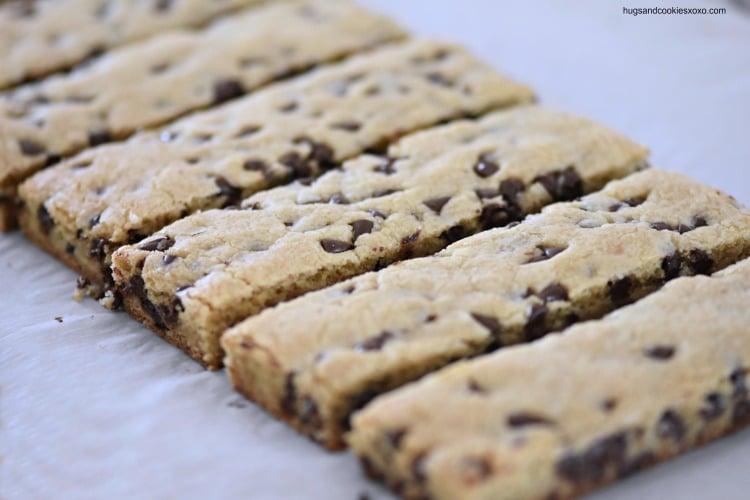Chocolate Peanut Butter Cookie Sticks