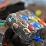 Extra Fudgy M and M Brownies