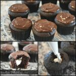 Cream Filled Double Chocolate Cupcakes