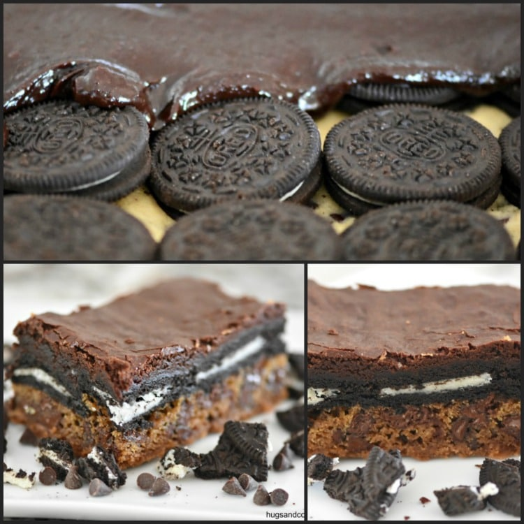 Chocolate Chip Oreo Cookie Brownies