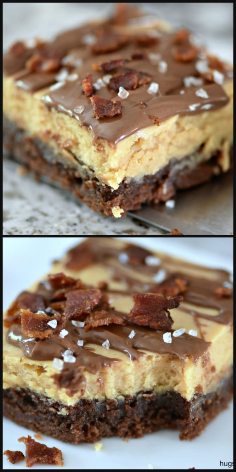 Bacon Peanut Butter Cheesecake Brownies