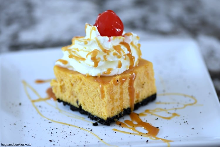 Caramel Pumpkin Cheesecake Bars