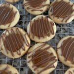Caramel Chocolate Shortbread Cookies