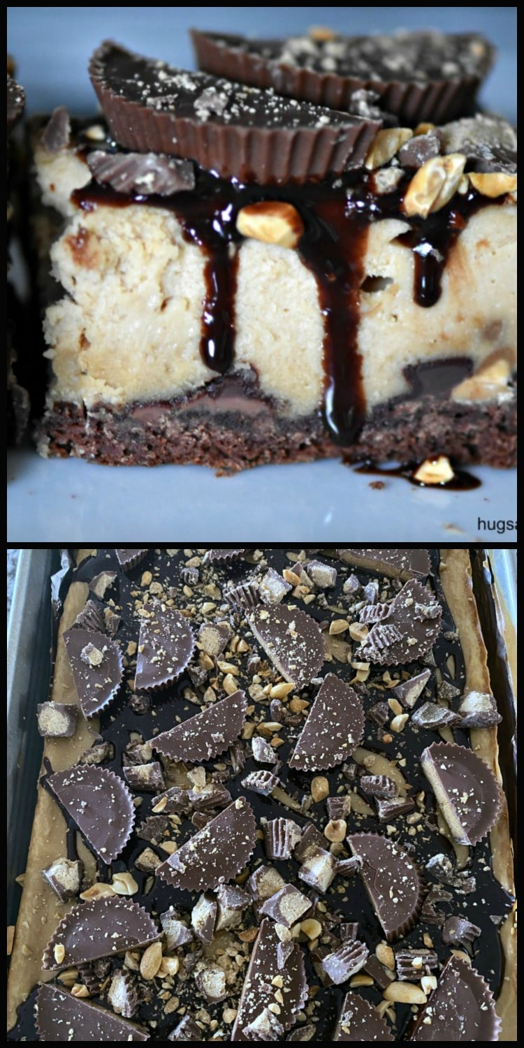 Death By Reese's Cheesecake Brownies