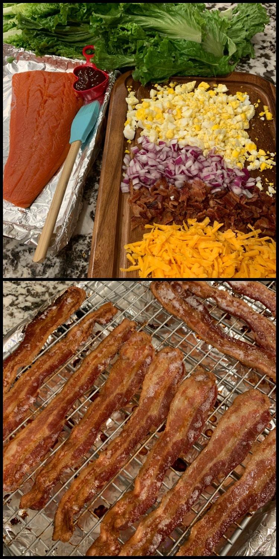 BBQ Salmon Caesar Salad